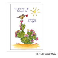 prickly pear cactus wren heart miss you card