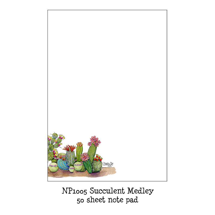 Succulent Medley Note Pad