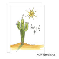 Thinking of You Card Saguaro
