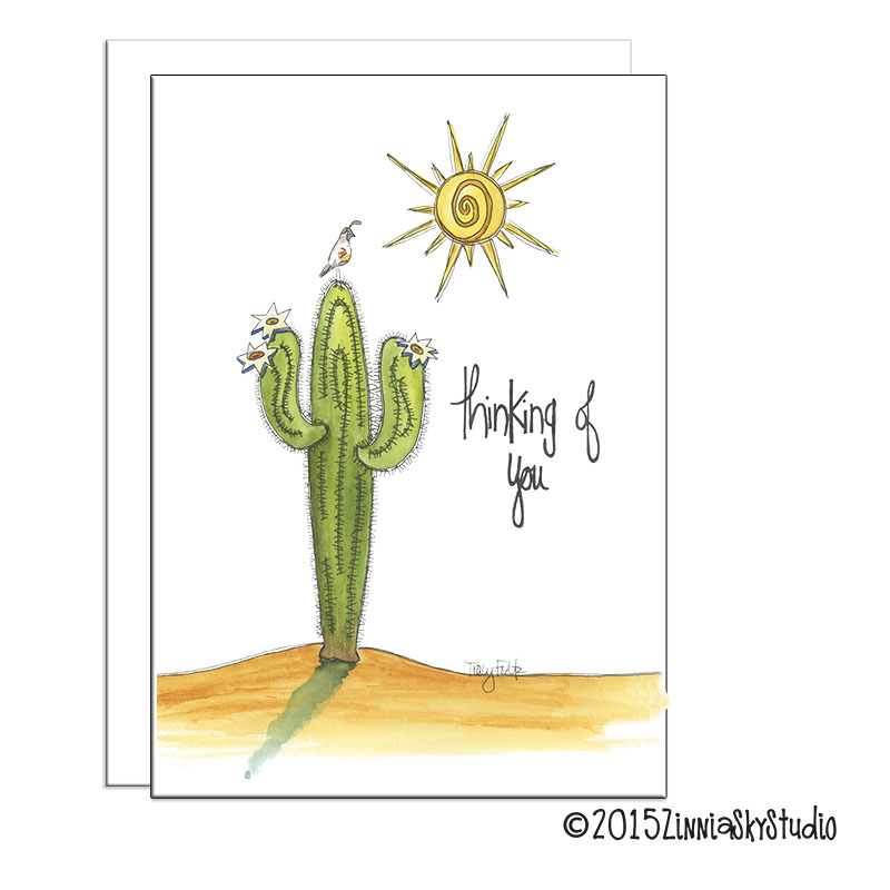Thinking of You Card Saguaro