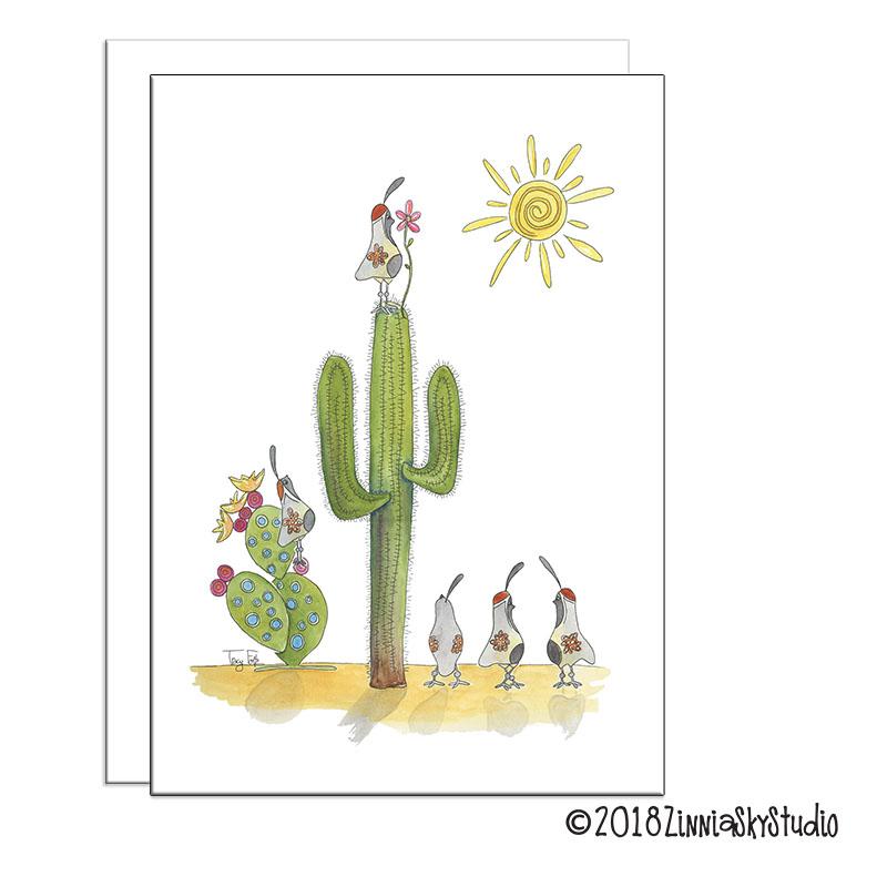 Saguaro Quail Flowers White