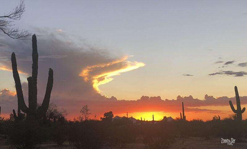arizona sunset orange