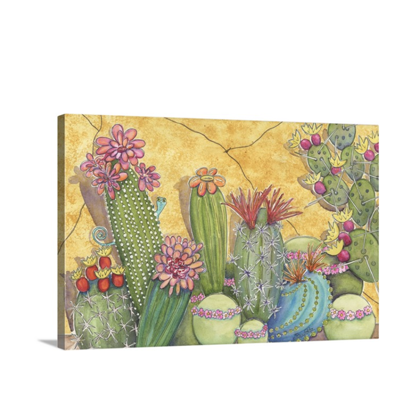 succulents gold canvas