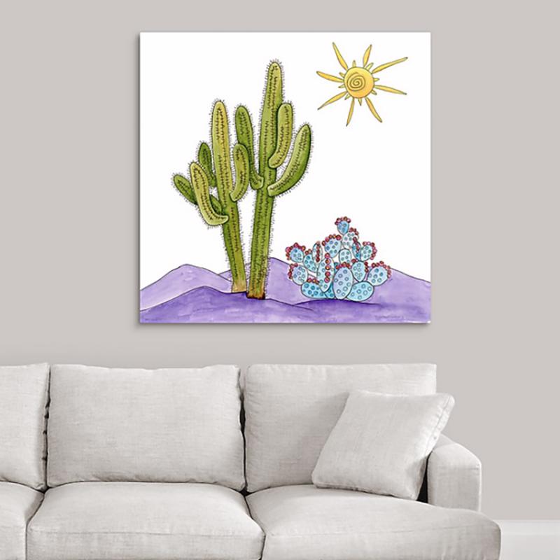 saguaro cactus duo canvas