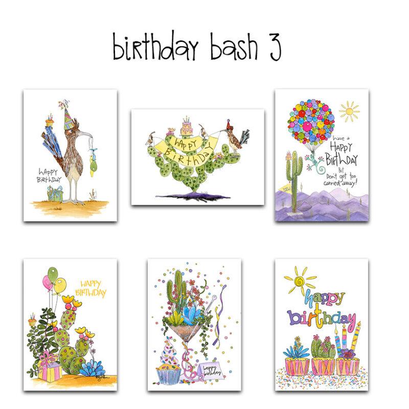 birthday bash 3 card set