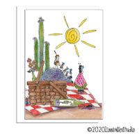 desert picnic blank card
