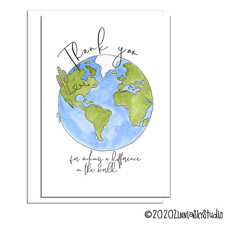 difference in the world thank you card