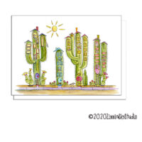 cactus condos blank card