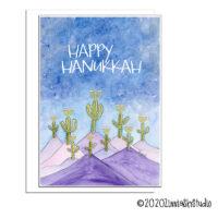 Hanukkah cactus menorahs Hanukkah card
