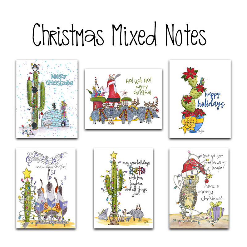 Southwest Christmas Mixed Notes