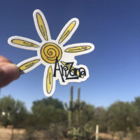 vinyl sticker arizona sun