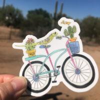 lizard bicycle vinyl sticker