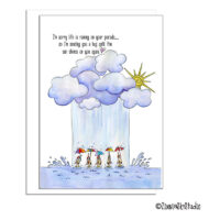 southwest quail umbrellas encouragement card