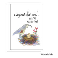 southwest mama quail expecting card