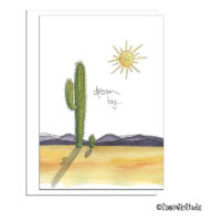 dream big cactus encouragement card