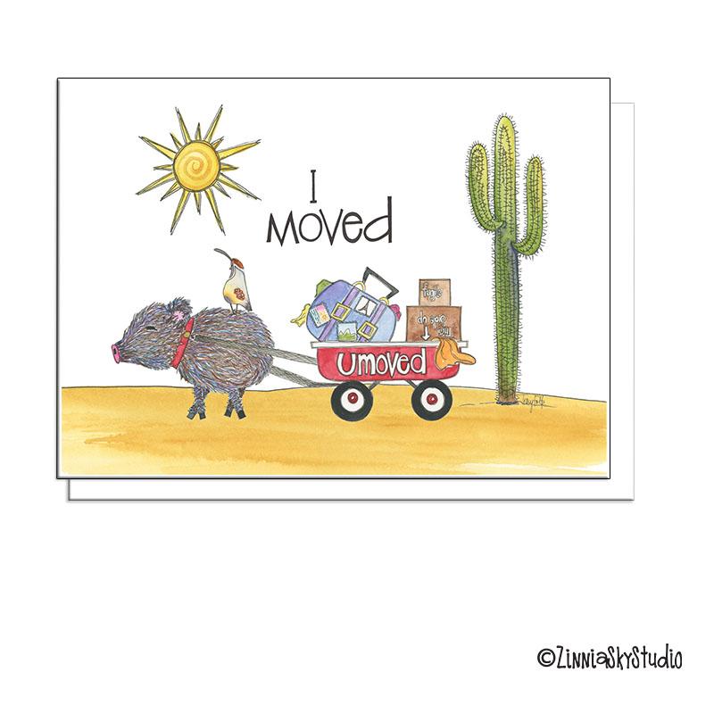 southwest javelina I moved moving card