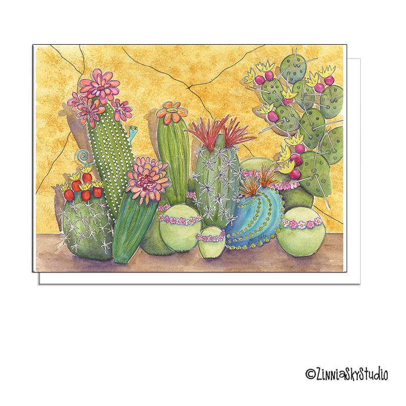 succulent medley gold card