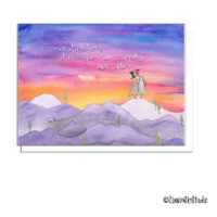 quail sunset wedding card