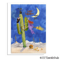 southwest witch cactus funny halloween