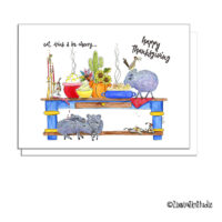 southwest thanksgiving critter table greeting card