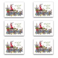 christmas southwest funny note card set