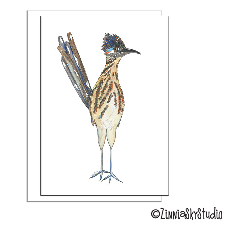 southwest road runner blank card