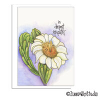 southwest cactus bloom sympathy card