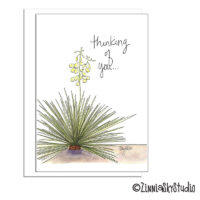 southwest yucca thinking of you card