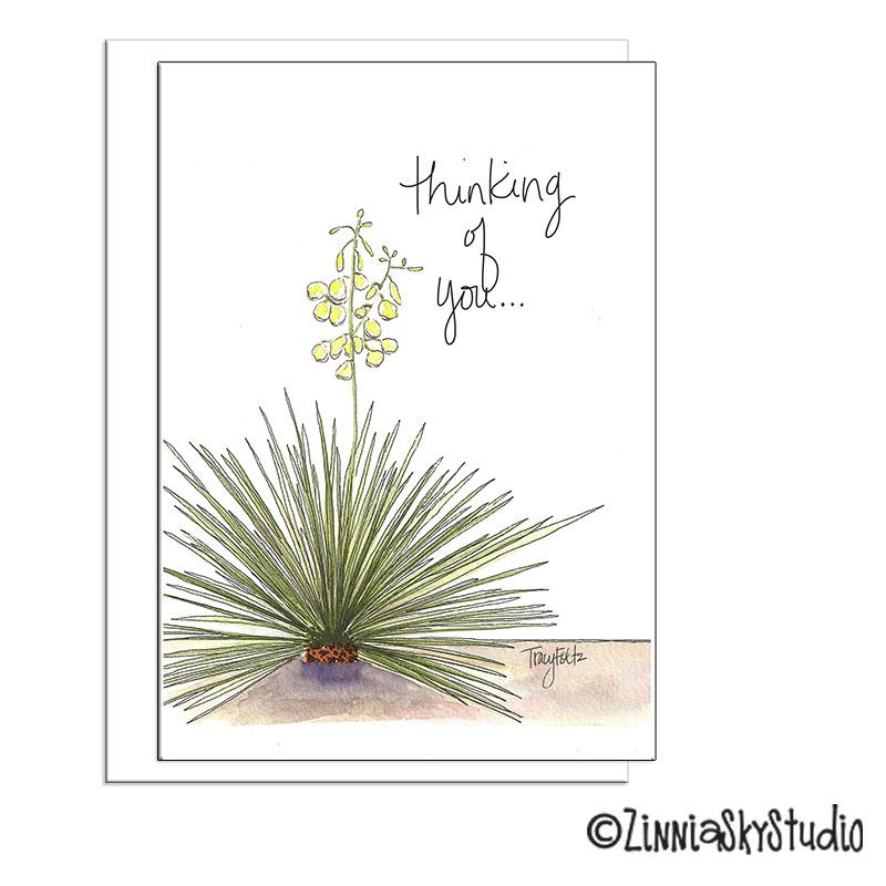 southwest yucca thinking of you card
