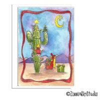 cactus elf funny christmas card