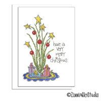 southwest ocotillo cactus tree christmas card