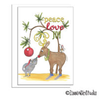 southwest javelina peace holiday card