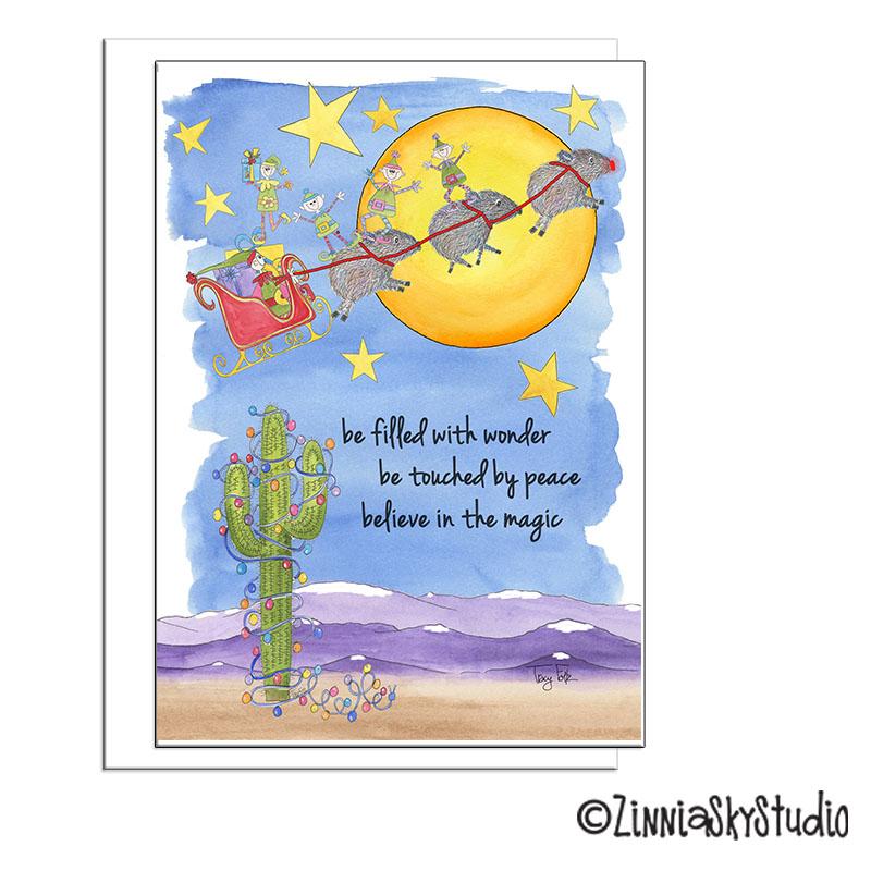 sleigh wonder southwest christmas card