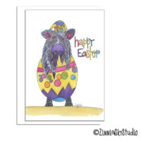 southwest javelina egg easter card