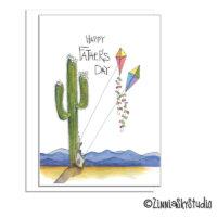 southwest quail kites Father's Day card