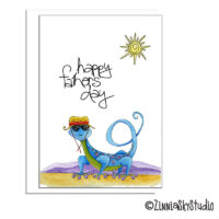 southwest lizard hiker Father's Day card