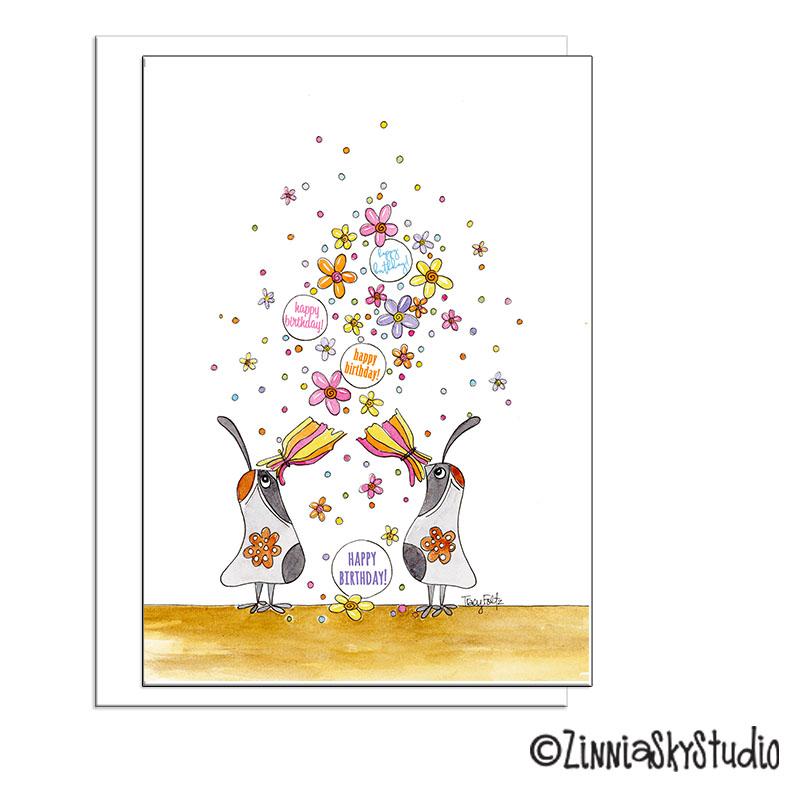 southwest birthday quail confetti