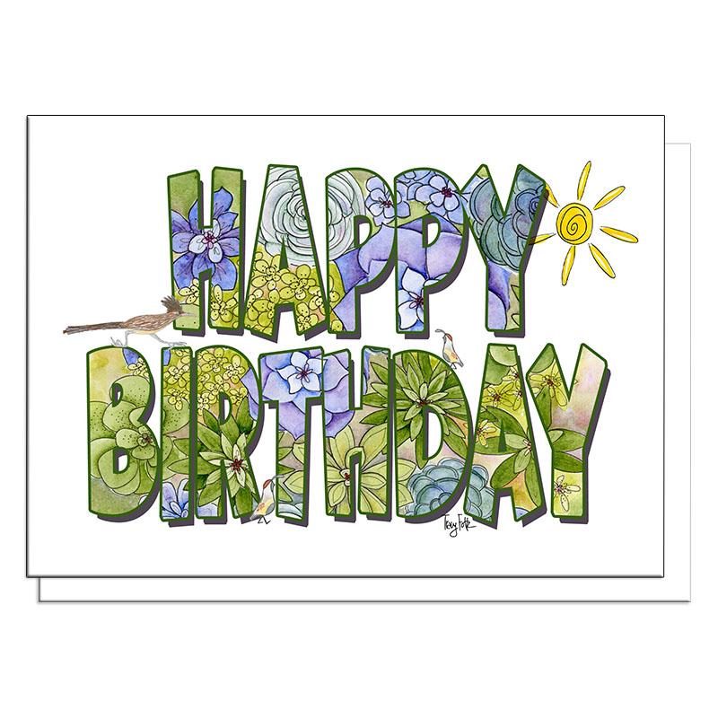 southwest birthday succulents birthday card