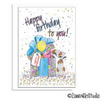 southwest birthday present birds birthday card