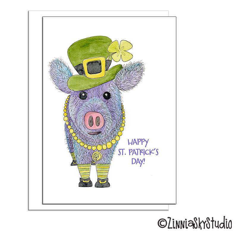 javelina pig leprechaun st patrick's day