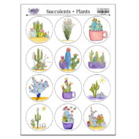stickers succulents and plants