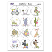 stickers critters and birds