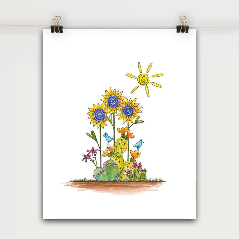 sunshine succulents art print large