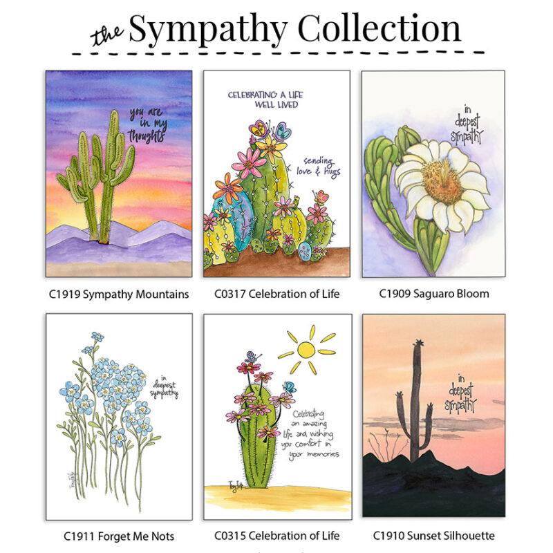 sympathy collection box card set
