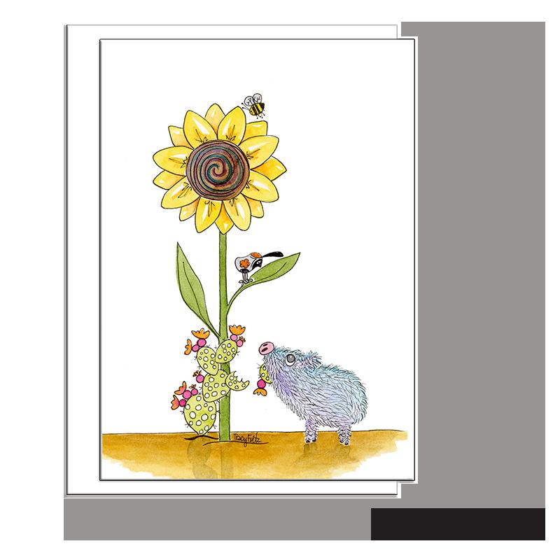javelina pig sunflower