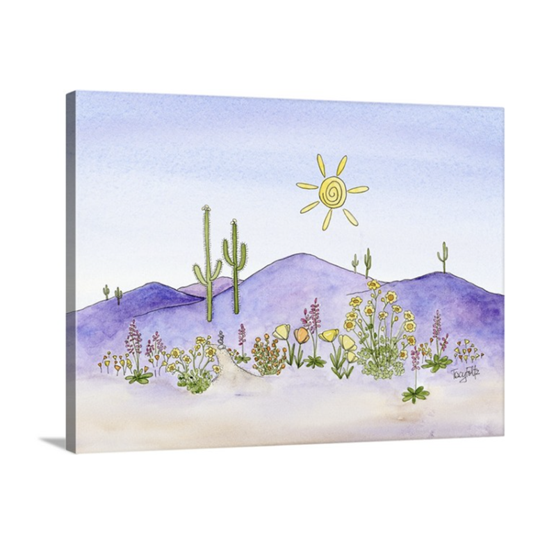 mountain flowers canvas