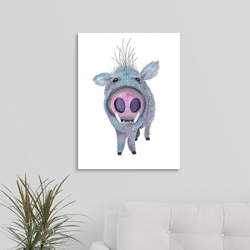 javelina blue pig canvas