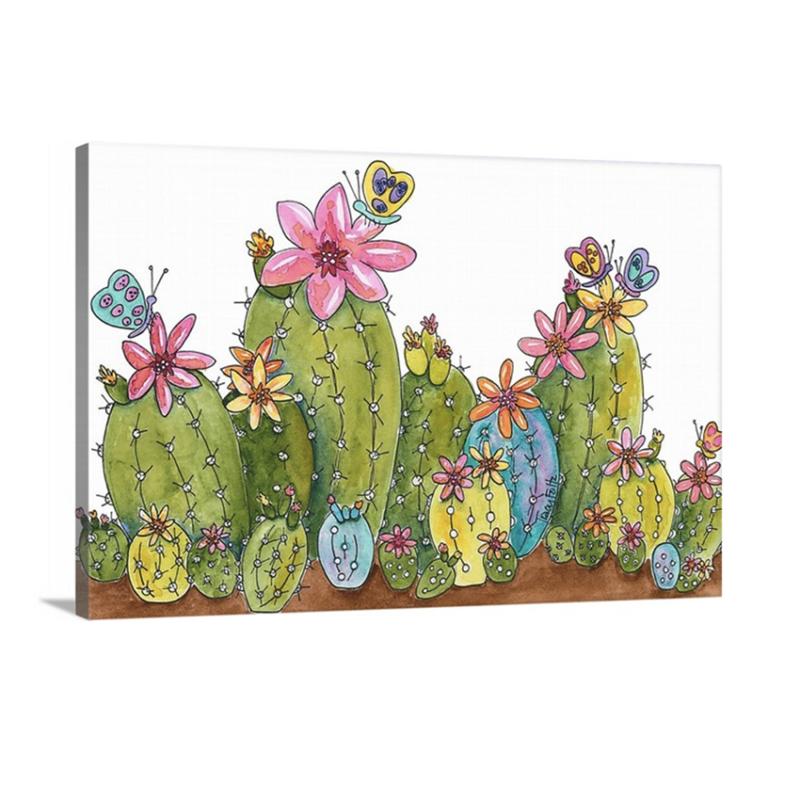 succulents flowers bright canvas