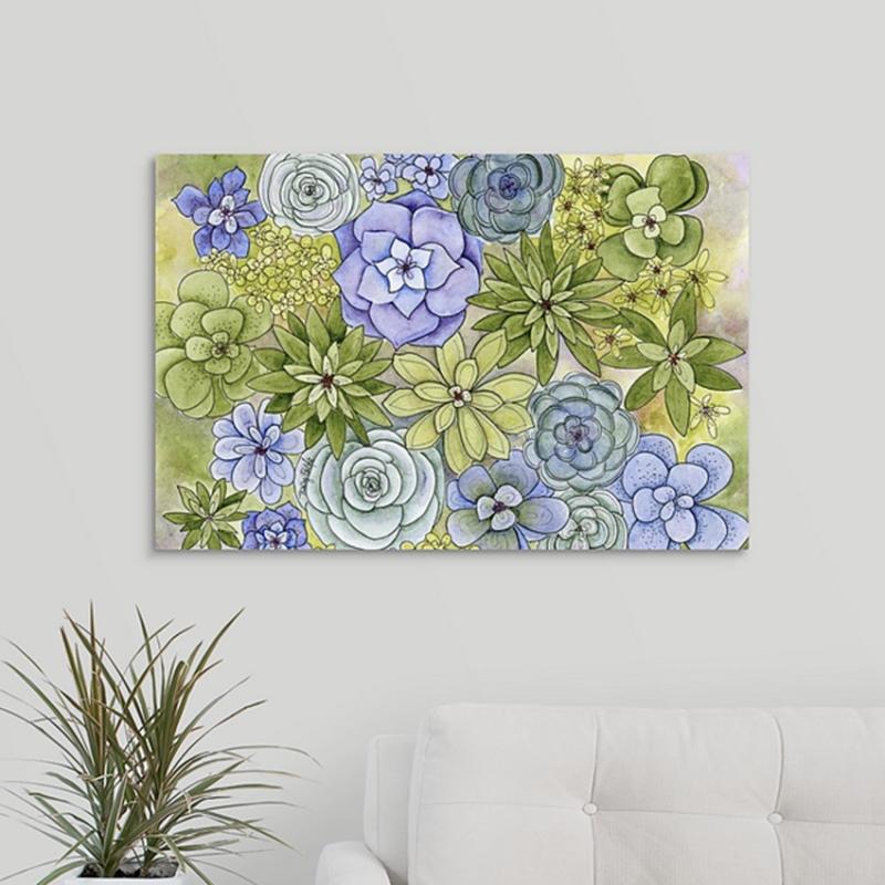 succulents lots canvas