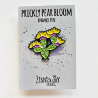 cactus prickly pear bloom enamel pin
